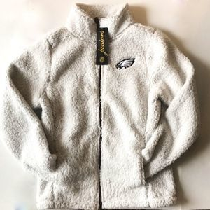 NFL Juniors Eagles Teddy Bear Jacket - NWT
